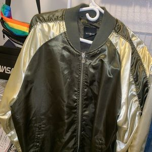 Bomber Jacket (Olive Green and Gold)